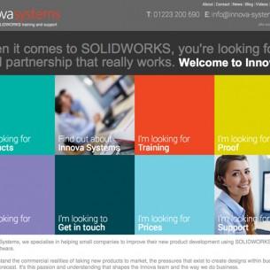 Innova Systems home page web design