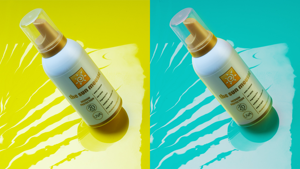 The Sun Mousse. Cambridge design agency, Cambridge photography, illustration, typography, Cambridge print, design, packaging, photography, advertising, printed materials, website design, 3D animation.