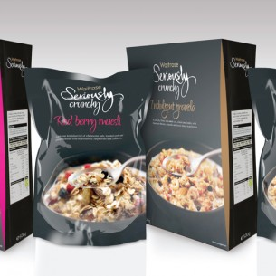 Waitrose muesli and granola range concepts.