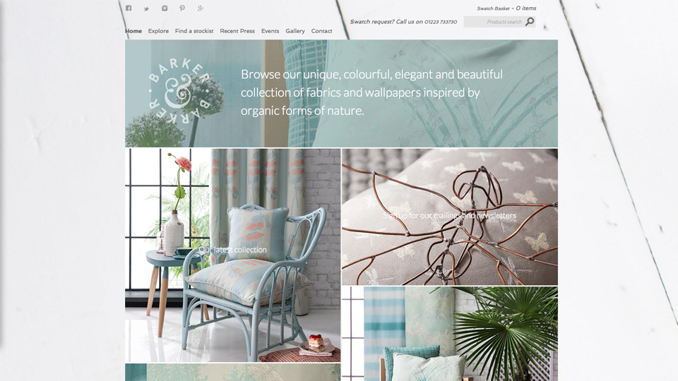 Webstite Home page design - Barker & Barker